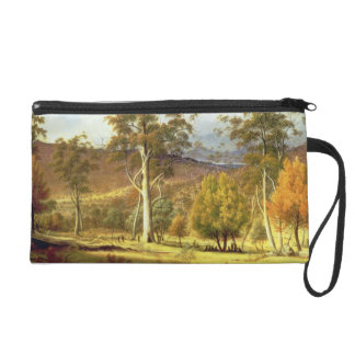 Natives in the Eucalypt Forest on Mills Plains, Pa Wristlet Clutch