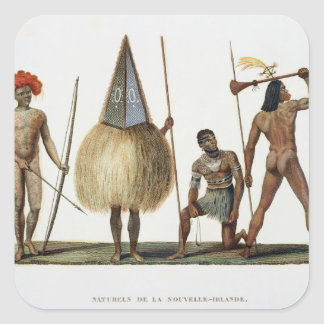 Natives of New Ireland, from 'Voyage autour du Mon Stickers