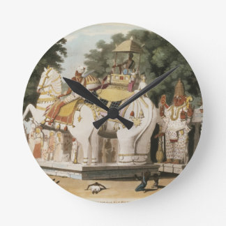 Natives pay homage to their ruler, engraved by Tho Round Clock