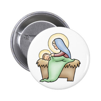 Nativity 6 Cm Round Badge