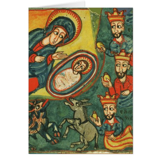 NATIVITY,ADORATION OF MAGI IRISH CHRISTMAS PRAYER CARD