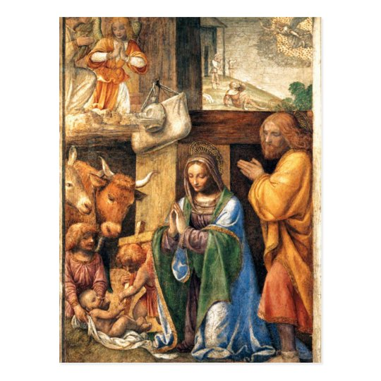 Nativity and Annunciation to the Shepherds Postcard