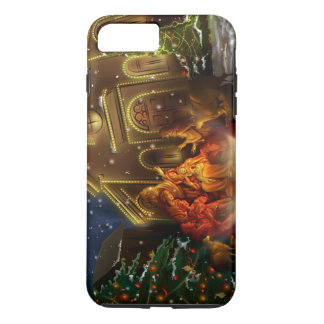 Nativity and Church - The Birth of Christ iPhone 7 Plus Case