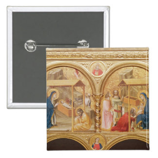 Nativity and the Adoration of the Magi 15 Cm Square Badge