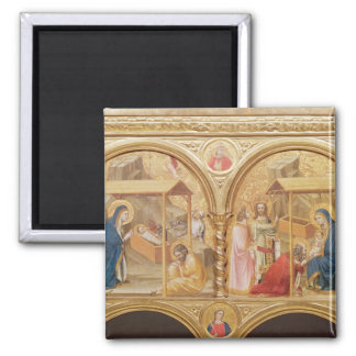 Nativity and the Adoration of the Magi Square Magnet