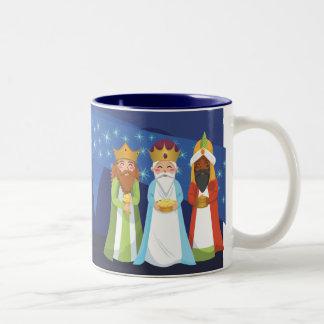 Nativity and the Three Wise Men Two-Tone Coffee Mug