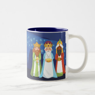Nativity and the Three Wise Men Two-Tone Mug