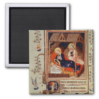 Nativity and Visitation of the shepherds Square Magnet