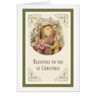 Nativity Angel Jesus Mary Joseph Roses Girl Card