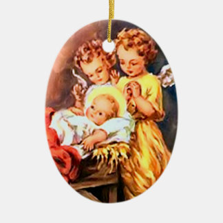Nativity angels christmas ornament
