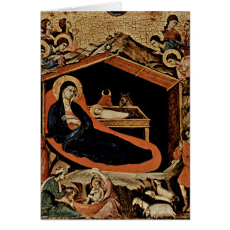 Nativity By Duccio Card