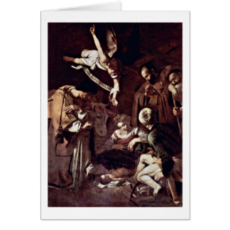 Nativity By Michelangelo Merisi Da Caravaggio Card