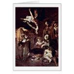 Nativity By Michelangelo Merisi Da Caravaggio Greeting Card