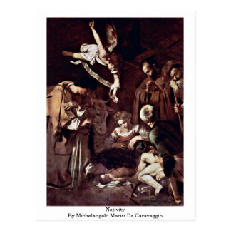 Nativity By Michelangelo Merisi Da Caravaggio Postcard