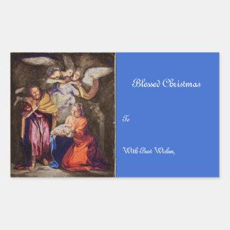 Nativity by Noel Coypel Rectangular Sticker
