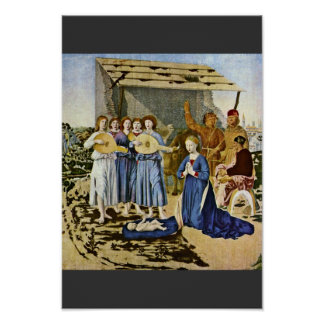 Nativity By Piero Della Francesca (Best Quality) Poster