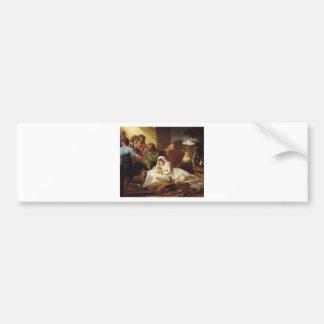 Nativity Christ Baby Jesus Christianity Scripture Bumper Stickers