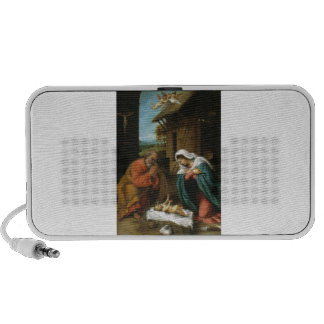 Nativity Christ Baby Jesus Christianity Scripture Travel Speakers