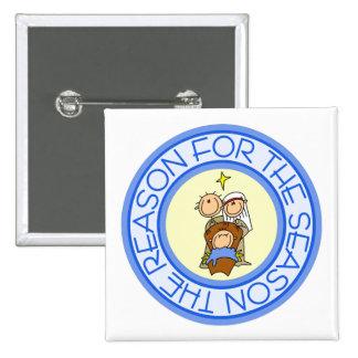 Nativity Christmas Gift 15 Cm Square Badge