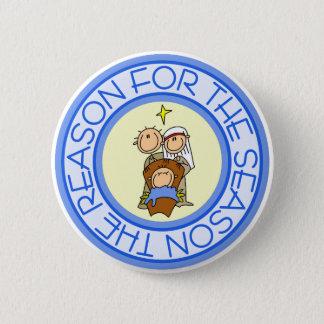 Nativity Christmas Gift 6 Cm Round Badge