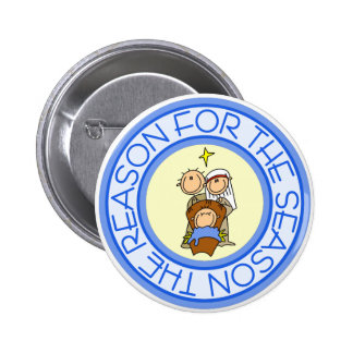 Nativity Christmas Gift 6 Cm Round Badge