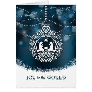 Nativity Christmas Ornament - Joy to the World Card