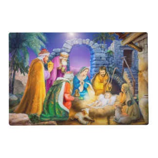 Nativity christmas placemat laminated placemat