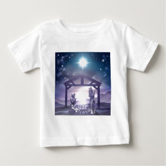 Nativity Christmas Scene Baby T-Shirt