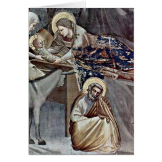 Nativity Detail By Giotto Di Bondone Card