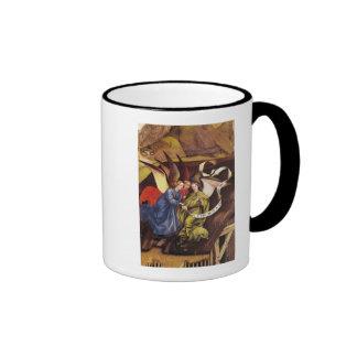 Nativity, detail of three angels, c.1425 coffee mug