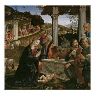 Nativity - Domenico Ghirlandaio Poster