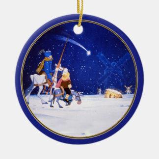 Nativity & Don Quixote fantasy - by Cervantes Christmas Ornament