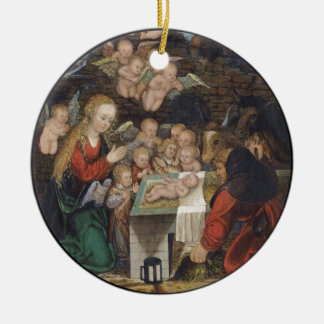 Nativity Featuring Cherubs Christmas Ornament