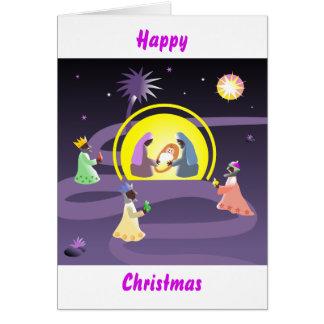 Nativity, Happy Christmas Greeting Card