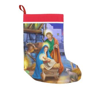Nativity holiday stocking