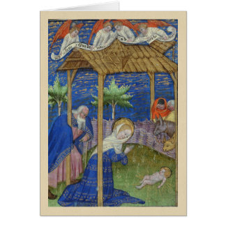 Nativity Illuminated Manuscript Christmas Card