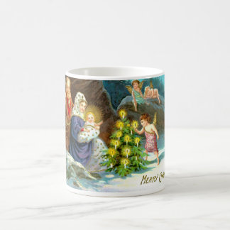 Nativity in the snow coffee mug