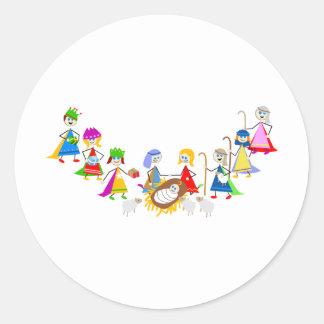 Nativity Kids Classic Round Sticker