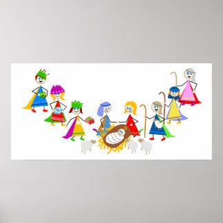 Nativity Kids Posters