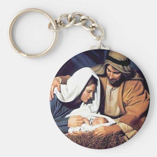 Nativity / Luke 2:11 Keychain