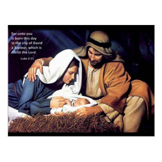 Nativity / Luke 2:11 Postcard