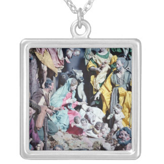 Nativity, made in Naples Silver Plated Necklace