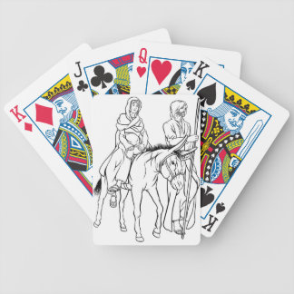 Nativity Mary and Joseph Christmas Illustration Bicycle Playing Cards