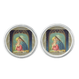 Nativity Mary And The Baby Jesus Cuff Links