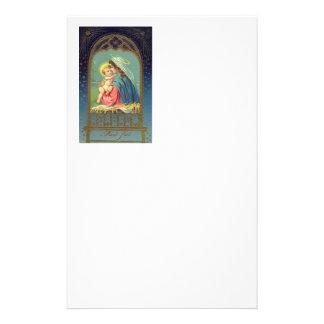 Nativity Mary Holding The baby Jesus Stationery Paper