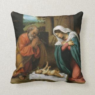 Nativity of Christ Throw Pillow