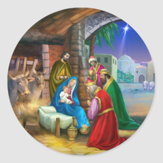Nativity of Jesus Sticker