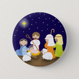 Nativity of the Lord 6 Cm Round Badge