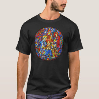 Nativity Painted Stained Glass Style T-Shirt
