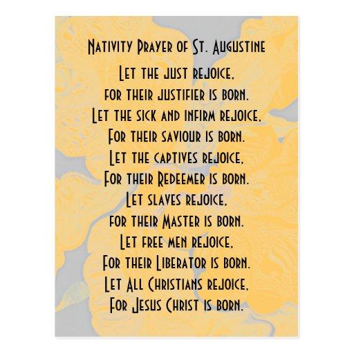 Nativity Prayer of St. Augustine Post Card